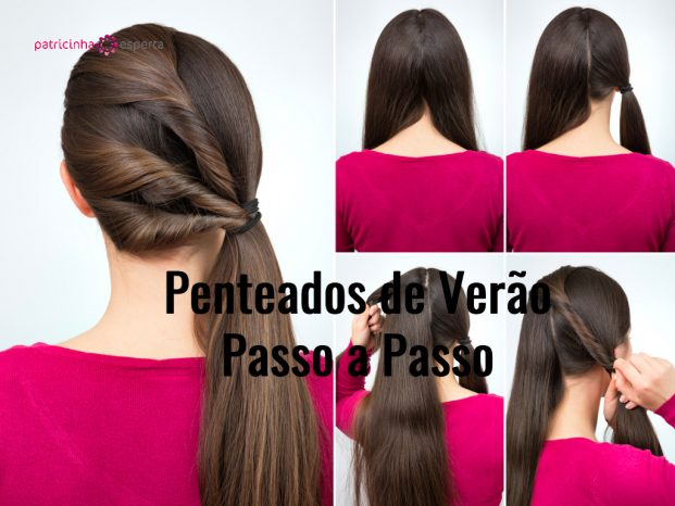 hairstyle twisted pony tail tutorial picture id666603108 621x466 - Penteados Verão 2018 Passo a Passo