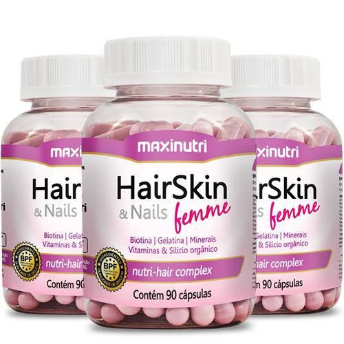 Hair Skin Nails Femme Maxinutri - Como Fazer o Cabelo Crescer Mais Rápido