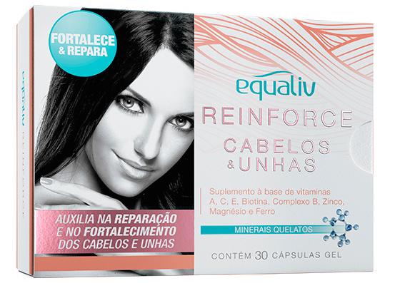 equaliv reinforce cabelos e unhas 30 capsulas zoom - Como Fazer o Cabelo Crescer Mais Rápido