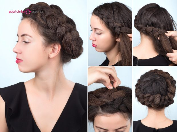 fashionable braid hairstyle tutorial picture id622923640 621x466 - Penteados Para Madrinhas De Casamento 2017