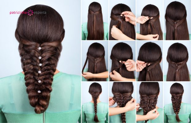 festive hairstyle for long hair tutorial picture id613901598 621x400 - Penteados Para Madrinhas De Casamento 2017
