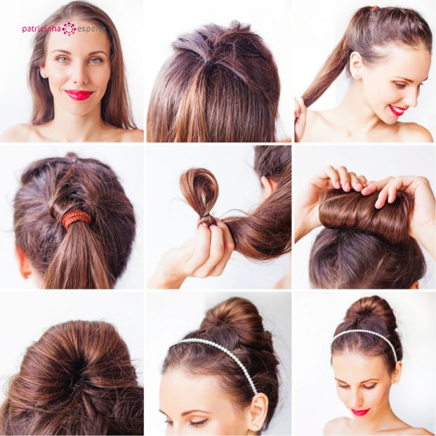 photo instruction for making a updo with long hair picture id491828086 621x621 - Penteados Para Madrinhas De Casamento 2017
