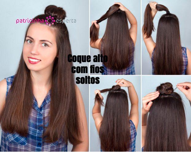 hairstyle bun tutorial picture id541312842 621x500 - Penteados Verão 2018 Tendências