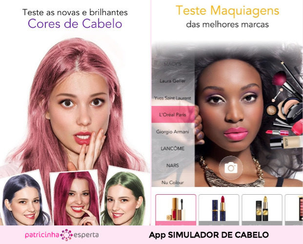 Haircolor Change App for Virtual Makeover 621x500 - Simulador de Cabelo: Corte e Cor