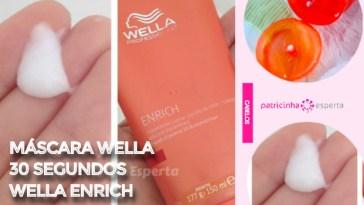 mascara wella 30 segundos - Máscara Wella 30 segundos Resenha
