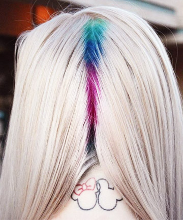 01 colorful roots that will make you feel like rainbow brite - Raiz do Cabelo Colorida: 30 Fotos Inspirações