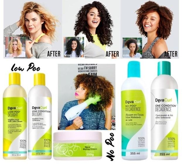 Deva Curl Decadence Duo Kit Shampoo No Poo 355ml e Condicionador One 355ml  621x558 - No poo Co wash o que é?