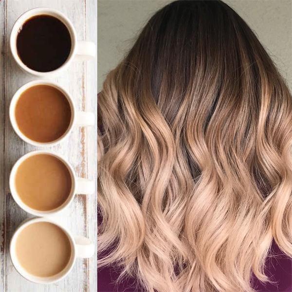 Justine Landfried coffee - Balaiagem Café: Coffe Hair - 30 Cabelos Para Você Copiar