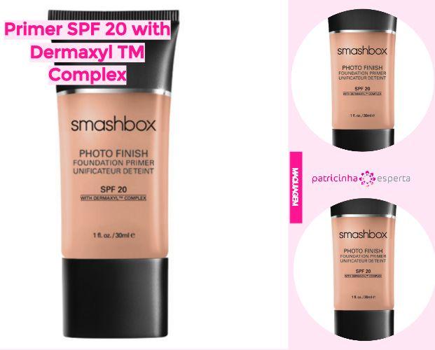 Primer SPF 20 with Dermaxyl TM Complex - Primer Smashbox Resenha: Como Funciona, Diferenças, Como Usar