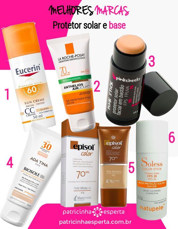 protetor solar com cor - Melhor Protetor Solar Para o Rosto: Marcas, Diferenças, Preços