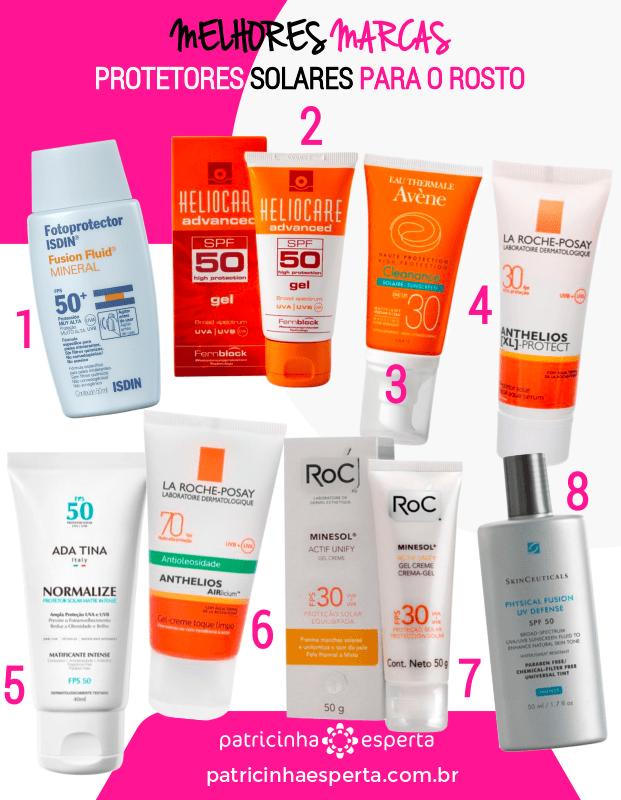 protetor solar para o rosto melhores marcas - Melhor Protetor Solar Para o Rosto: Marcas, Diferenças, Preços