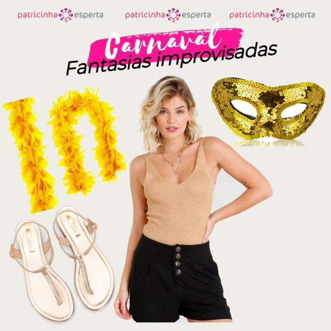 carnaval look dourado - Fantasias De Carnaval 2019: Looks Para Copiar