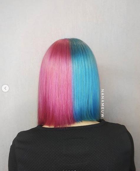 cabelo azul com rosa 1 - Cabelo Azul: Como Pintar Em Casa, Fotos Inspirações, Como Cuidar