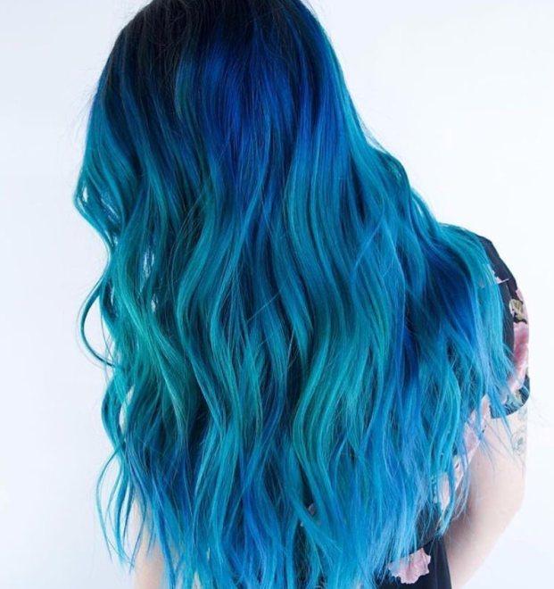 cabelo azul 621x660 - Cabelo Azul: Como Pintar Em Casa, Fotos Inspirações, Como Cuidar