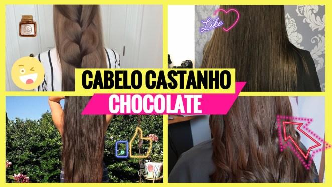 cabelo castanho chocolate 1 - Cabelo Castanho Chocolate: 50 fotos inspirações, dicas de cuidados