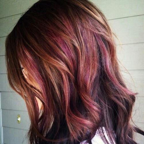 Chocolate Brown Hair with Blonde and Red Highlights - Cabelo Castanho Chocolate: 50 fotos inspirações, dicas de cuidados