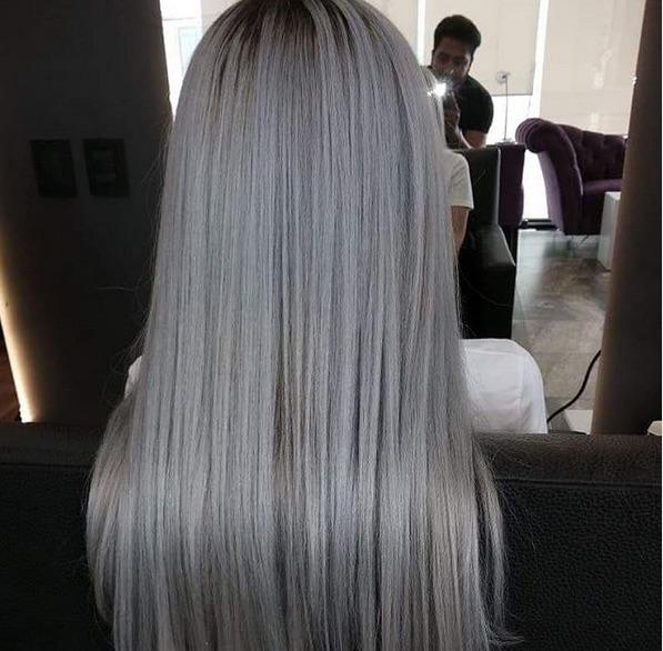 cabelo cinza - Cabelo Loiro Acinzentado: 80 Fotos + Minhas Dicas de Cuidados