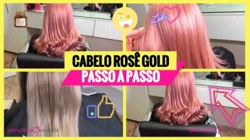 cabelo rosa dourado1 - Cabelo Rosa Dourado: Como Ter com Coloração Passo A Passo