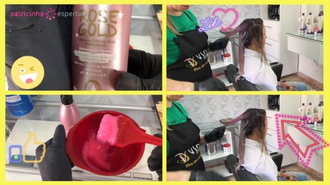 mascara rose gold1 - Como Pintar o Cabelo de Rosa Em Casa Passo A Passo