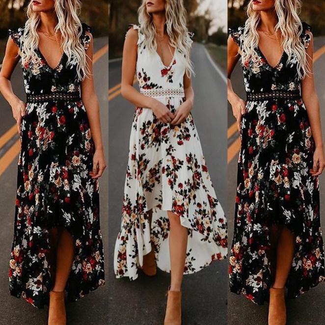 HTB1J6jIMMHqK1RjSZFgq6y7JXXaa - Vestidos Estampados 2020: 70 Looks Inspirações, Trends