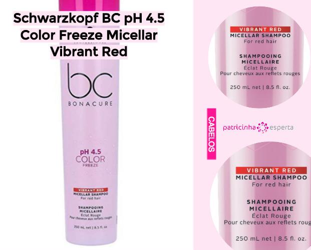 Schwarzkopf BC pH 45 Color Freeze Micellar Vibrant Red - Shampoo Tonalizante ✅ Como Funciona, Qual o Melhor? Como Usar