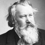 Johannes Brahms fotografiado en 1889