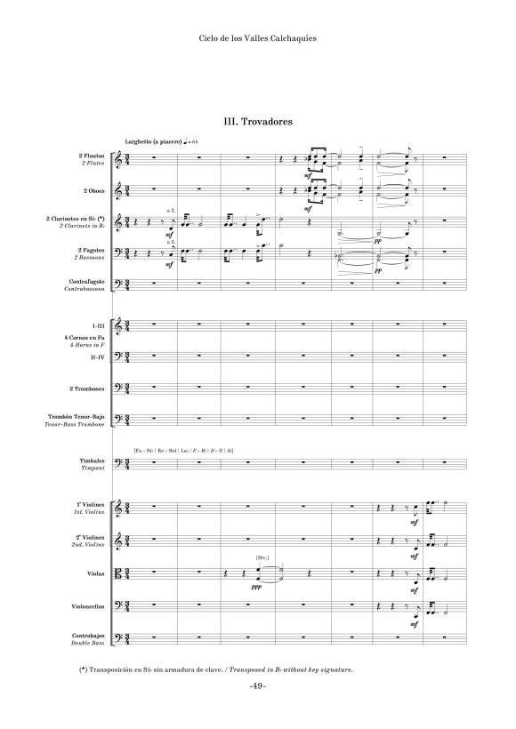 """""""Trovadores"""", tercer movimiento de """"Ciclo de los Valles Calchaquíes"""" (edición crítica)"""