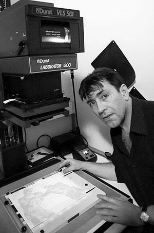 Tirage argentique noir & blanc à La Photofactory.