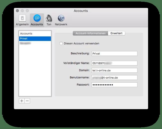 VoIP-Telefonie auf Mac einrichten