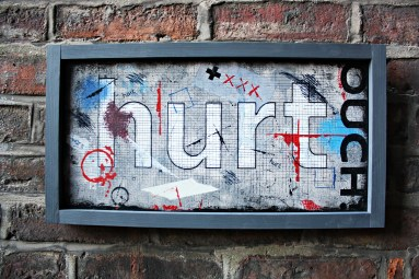wars hurt - typographic wall art