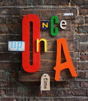 once upon a time - wall art