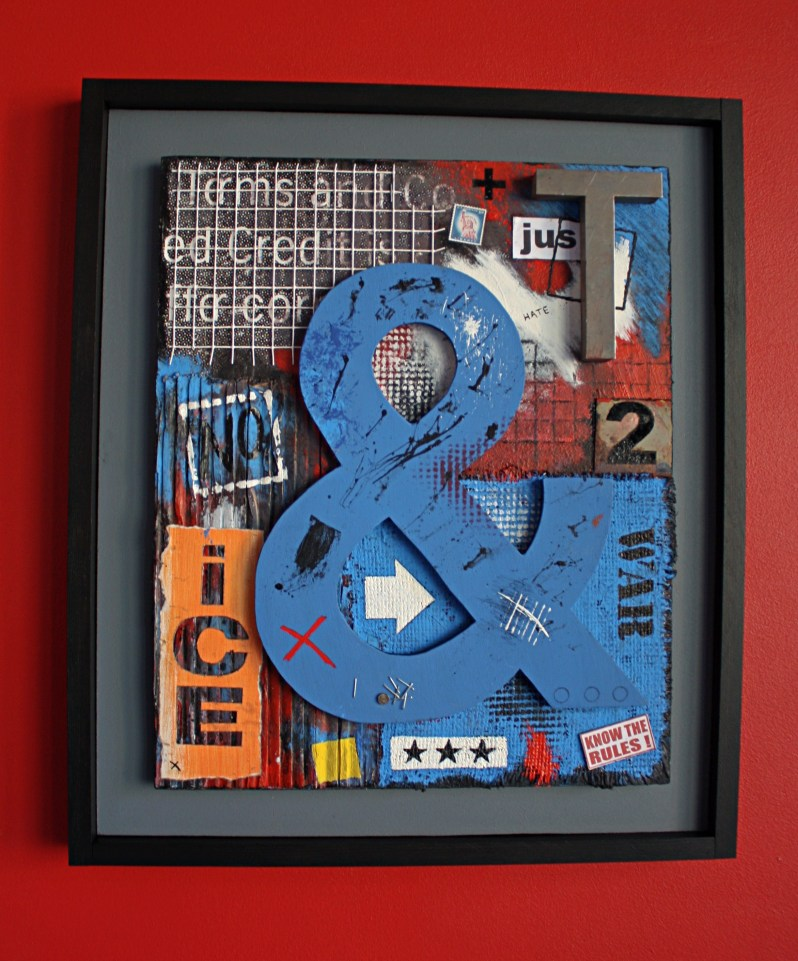 large blue ampersand