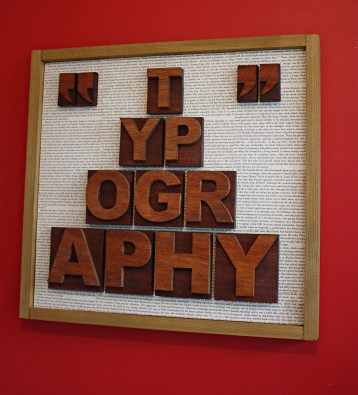 typography Pre-lithographic days