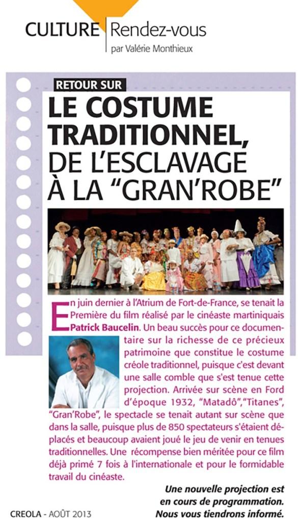 Article d'Aout 2013 sur le film