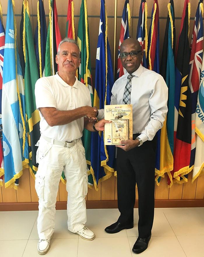 Avec Hugh RILEY, Secrétaire Général CTO