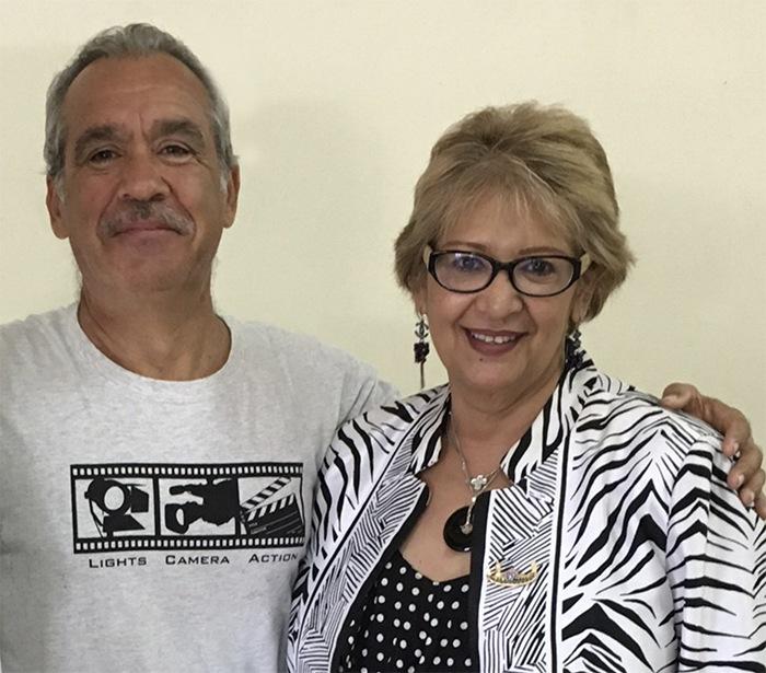 Patrick Baucelin avec Mme GREER ASSAM de la Compagnie du Développement Touristique