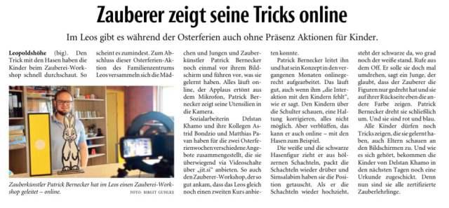 Online Zauberworkshop
