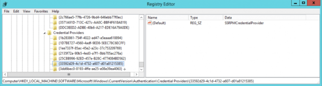 SSRPM Credential Provider