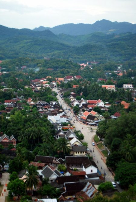 Luang Prabang from the top of the Phu Si