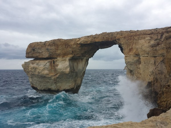 Malta in winter: the famous 'Azure window' in Gozo
