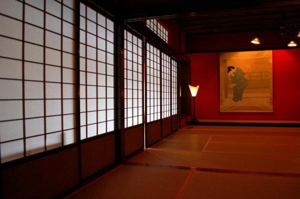 Inside a tea house in Higashi-chaya