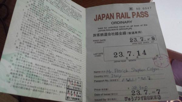 A Japan rail pass