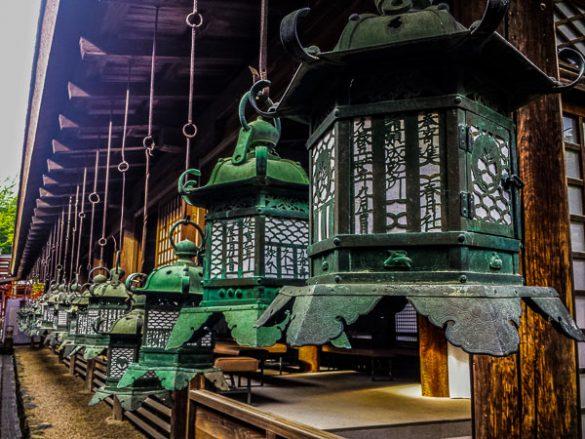 Lantern at the shinto Kasuga Taisha shrine