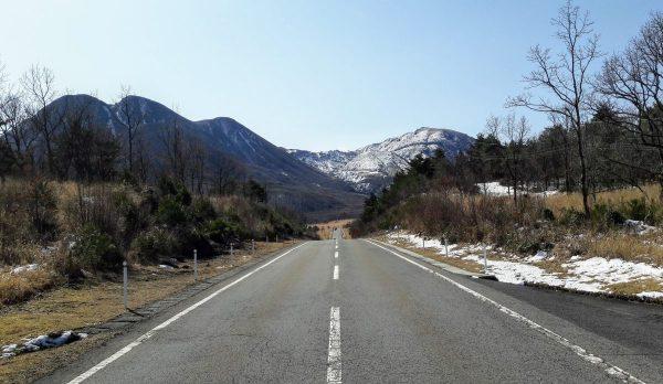 A road close to Kokonoe, Kumamoto