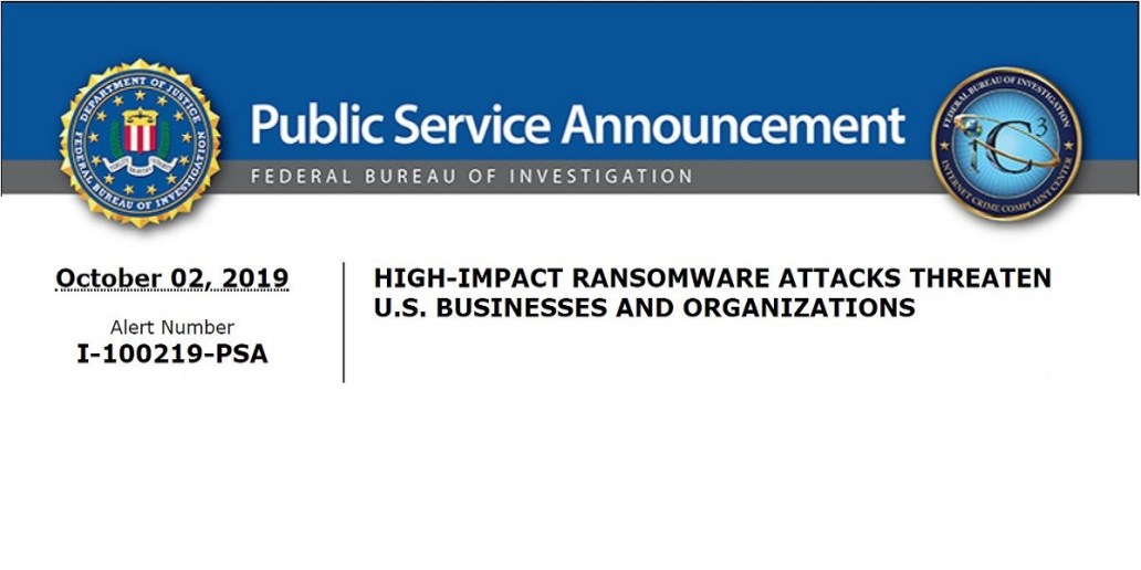 FBI Released Public Announcement About Ransomware Threat