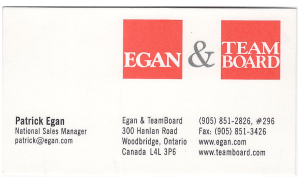 Egan Visual and TeamBoard - National Sales Manager