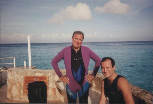 Jim Egan and Patrick Egan in Cozumel mexico
