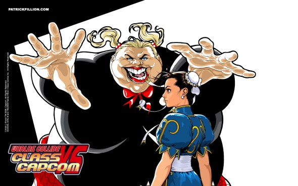 School Girl VS Chun Li - 1680 X 1050