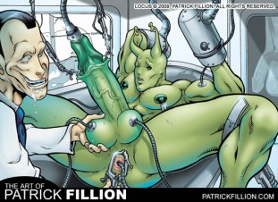 Locus get manhandled by a wacky alein doctor!