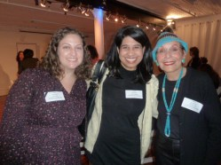 Panelist, Jill Rafson, Literary Manager, Roundabout Theatre Company, Victoria Medina (guest), Dorothy Leeds, Board Member
